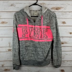 VS PINK half zip sweater size SMALL